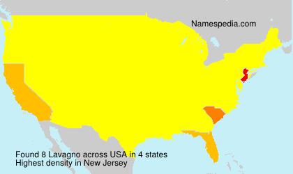 Surname Lavagno in USA