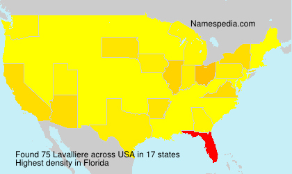 Surname Lavalliere in USA
