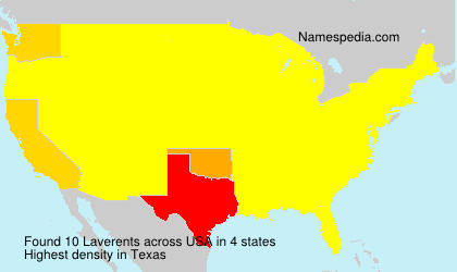 Surname Laverents in USA