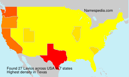 Surname Lavios in USA
