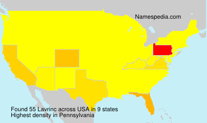 Surname Lavrinc in USA