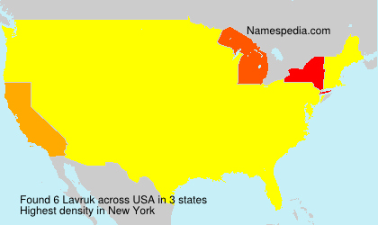 Surname Lavruk in USA