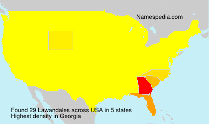 Surname Lawandales in USA