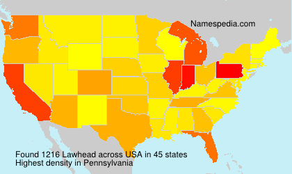 Surname Lawhead in USA