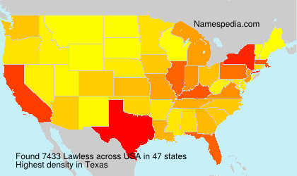 Surname Lawless in USA