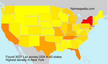 Surname Lax in USA
