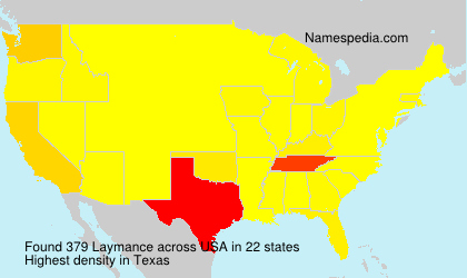 Surname Laymance in USA