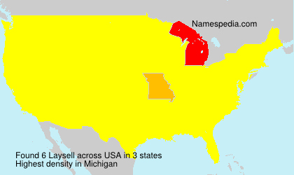 Surname Laysell in USA