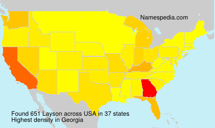 Surname Layson in USA