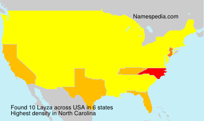 Surname Layza in USA
