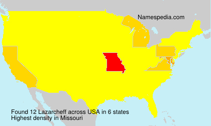 Surname Lazarcheff in USA