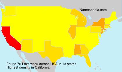 Familiennamen Lazarescu - USA