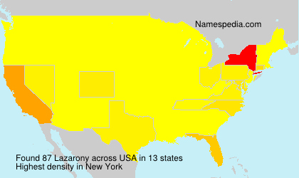 Surname Lazarony in USA