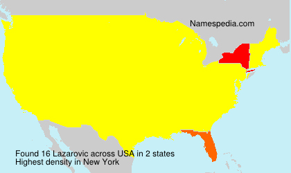 Surname Lazarovic in USA