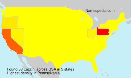 Familiennamen Lazzini - USA