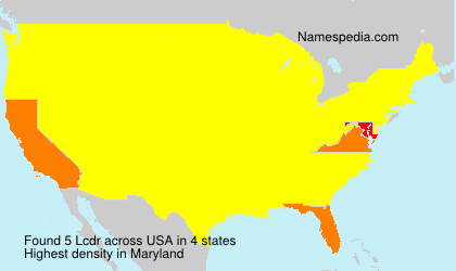 Surname Lcdr in USA