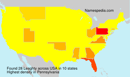 Surname Leaghty in USA