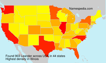 Surname Leander in USA