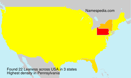 Surname Leaness in USA