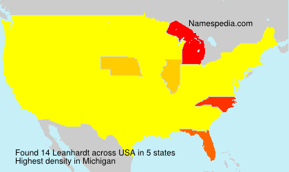 Surname Leanhardt in USA