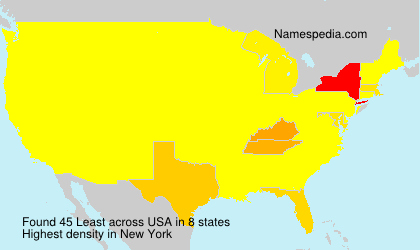 Surname Least in USA