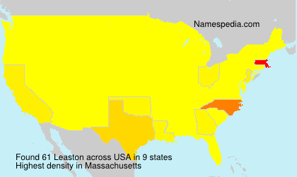 Surname Leaston in USA