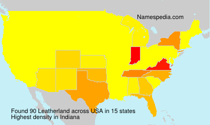 Surname Leatherland in USA