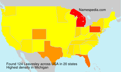 Surname Leavesley in USA