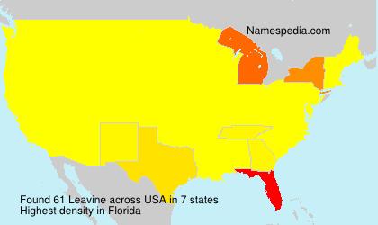 Surname Leavine in USA