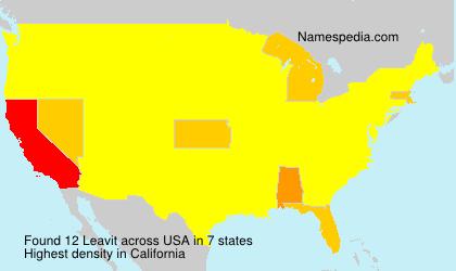 Familiennamen Leavit - USA