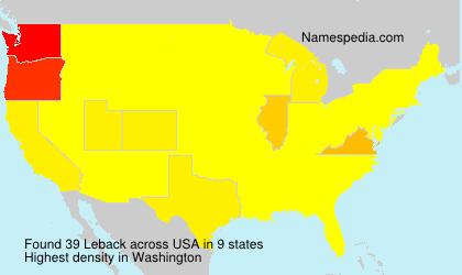 Surname Leback in USA
