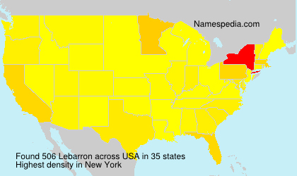 Surname Lebarron in USA