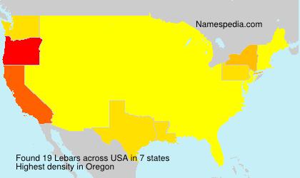 Surname Lebars in USA