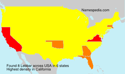 Surname Lebbar in USA