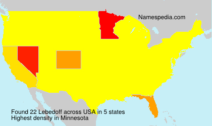Surname Lebedoff in USA