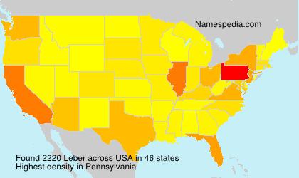 Surname Leber in USA