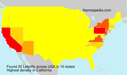 Surname Leboffe in USA
