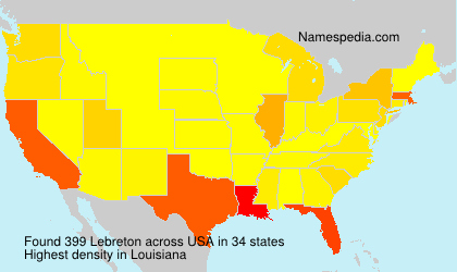 Surname Lebreton in USA