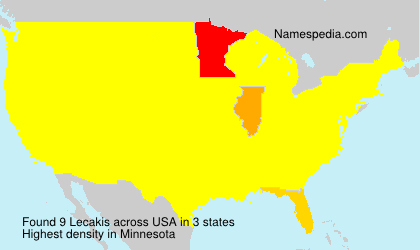 Surname Lecakis in USA