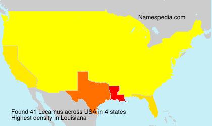 Familiennamen Lecamus - USA