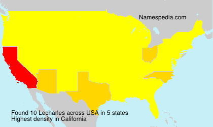 Surname Lecharles in USA