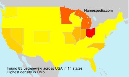 Surname Leciejewski in USA