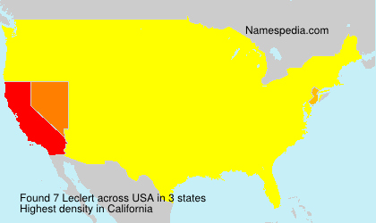 Familiennamen Leclert - USA