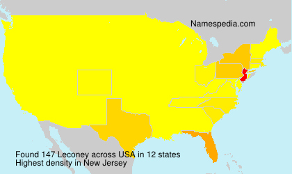 Surname Leconey in USA