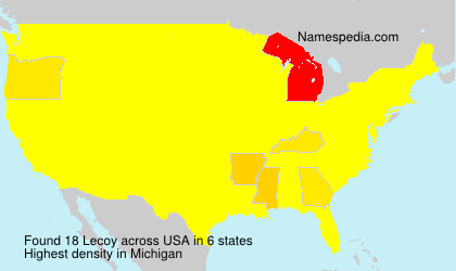 Surname Lecoy in USA