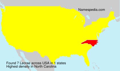 Familiennamen Lecrae - USA