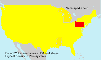 Surname Leczner in USA
