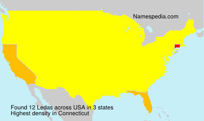 Surname Ledas in USA