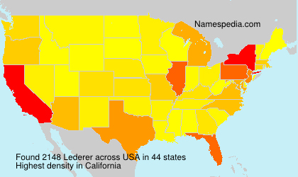 Surname Lederer in USA