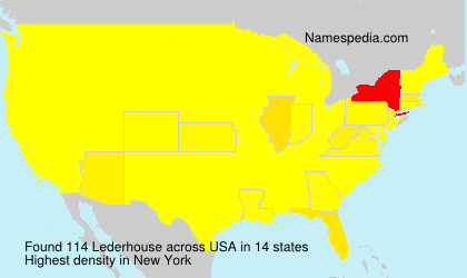Surname Lederhouse in USA